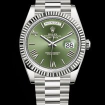 Rolex Day-Date 40 White Gold Green Dial
