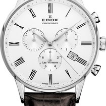 Edox Les Vauberts Steel 41mm White Roman numerals