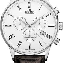 Edox Acier 41mm Quartz 10408-3A-AR nouveau