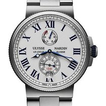 Ulysse Nardin Marine Chronometer Manufacture Сталь 45mm Белый