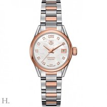 TAG Heuer Carrera Lady Gold/Steel 28mm Mother of pearl