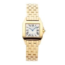 Cartier Santos Demoiselle Yellow gold 28mm Silver Roman numerals United States of America, Pennsylvania, Bala Cynwyd