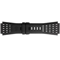 Bell & Ross Accesorii bell-ross-24mm-black-perforated-rubber-strap-b-p-035 nou Cauciuc Negru