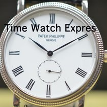 Patek Philippe White gold Manual winding White Roman numerals 36mm pre-owned Calatrava