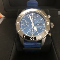 Breitling Superocean Héritage II Chronographe pre-owned 44mm Blue Chronograph Date Textile