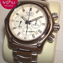 Ebel 1911 BTR pre-owned 45mm White Chronograph Date Steel