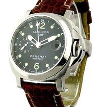 Panerai PAM00159 PAM 159 - Luminor GMT in Steel - on Brown...
