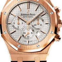 Audemars Piguet Royal Oak Chronograph Oro rosa 41mm Blanco Sin cifras