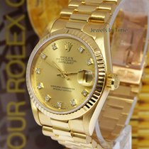 Rolex Datejust President 18k Yellow Gold Diamond Dial Midsize...