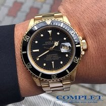 "Rolex Submariner Date 18k Yg ""BLACK NIPPLE"" Ref16808"