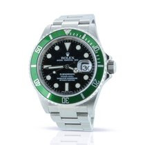 Rolex Submariner Date 16610LV - Box & Papers - Factory Stickered
