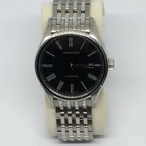 Hamilton Steel Automatic Black Roman numerals 40mm new Valiant
