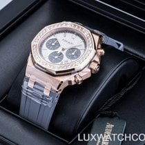 Audemars Piguet Royal Oak Offshore Lady Rose gold 37mm Silver No numerals