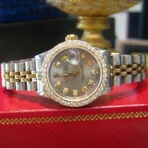 Rolex Lady-Datejust Zlato/Zeljezo 26mm Siv