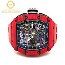 Richard Mille RM 011 pre-owned 49.94mm Transparent Rubber