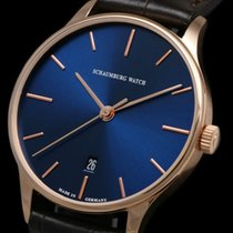 Schaumburg Rose gold Automatic Blue No numerals 40mm new