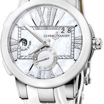 Ulysse Nardin Steel Automatic Mother of pearl 50mm new Executive Dual Time Lady