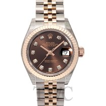 Rolex Lady-Datejust Or rose 28mm Brun