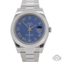 Rolex Datejust II Stainless Steel Smooth Bezel | 116300 Blue...