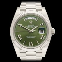 Rolex Day-Date 40 18k White Gold Gents 228239 - COM1246