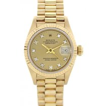 Rolex Oyster Perpetual Datejust 69178G 18k YG Diamond Dial