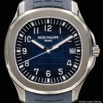 Patek Philippe White gold Automatic Blue Arabic numerals 42.2mm pre-owned Aquanaut
