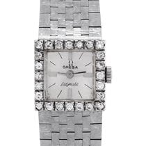 Omega Or blanc Quartz Blanc 17mm occasion De Ville Ladymatic