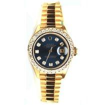 Rolex Lady-Datejust Or jaune 26mm Bleu