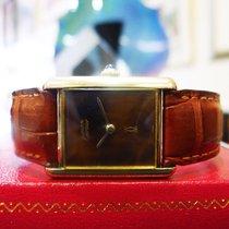"""Cartier Must De Cartier Tank Vermeil Yellow Gold """"burl Wood""""..."""