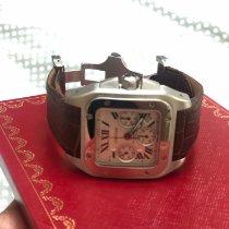 Cartier Santos 100 Steel 41mm White Roman numerals UAE, Dubai