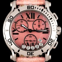 Chopard Steel Quartz Mother of pearl Roman numerals 42mm pre-owned Happy Sport