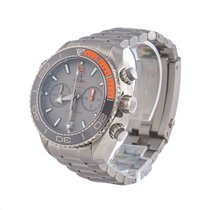 Omega Seamaster Planet Ocean Chronograph Titanium 45.5mm Grey No numerals