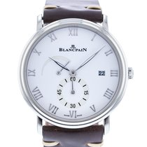 Blancpain Steel Manual winding White 40mm pre-owned Villeret Ultra-Slim