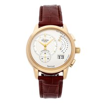 Glashütte Original Rose gold Manual winding Silver No numerals 39.2mm pre-owned PanoGraph
