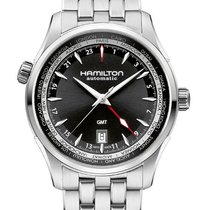Hamilton Jazzmaster GMT Auto new 2010 Automatic Watch with original box H32695131