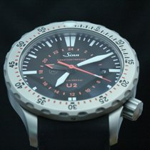 Sinn U2 Steel 44mm Black Arabic numerals
