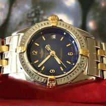 Breitling Callistino Gold/Stahl 28mm Blau Keine Ziffern