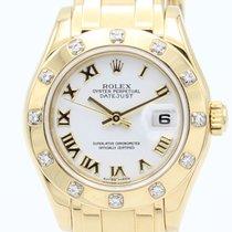 Rolex Lady-Datejust Pearlmaster Oro amarillo 29mm Blanco Romanos España, Barcelona