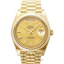 Rolex Day-Date 40 Oro amarillo 40.00mm Champán