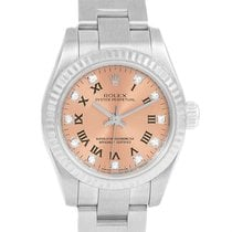 Rolex Oyster Perpetual 26 Steel White Gold Diamond Ladies...
