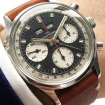 Wakmann Chronograaf 39mm Handopwind 1971 tweedehands Zwart