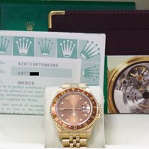 Rolex Gmt Master Ii 16718 18k Yellow Gold Root Beer Box &...