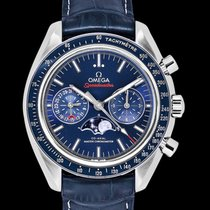 Omega Speedmaster Professional Moonwatch Moonphase Aço 44.25mm Azul