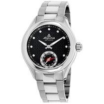 Alpina Hsw Black Dial Stainless Steel Ladies Watch Al285btd3c6b