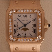 Cartier Santos Galbée tweedehands 30mm Geelgoud