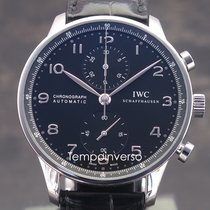 IWC Portuguese Chronograph Steel 41mm Arabic numerals United Kingdom, London, Paris, Brussels & Barcelona delivery face to face only - Other countries shipping with Brinks and DHL Express