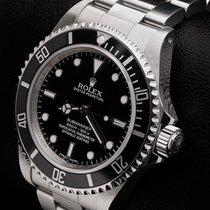 Rolex Submariner Acier 40mm Noir Sans chiffres