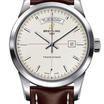 Breitling Transocean Day & Date Acero 43mm Plata