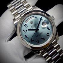 Rolex Day-Date 40 Platin 40mm Blau