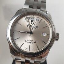 Tudor Glamour Date-Day Stahl 39mm Silber Keine Ziffern
